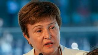 In this Sept. 6, 2021, file photo, Kristalina Georgieva, managing director of the International Monetary Fund (IMF), delivers a speech in the Netherlands.