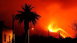 Εικόνες από το ηφαίστειο στη Λα Πάλμα
