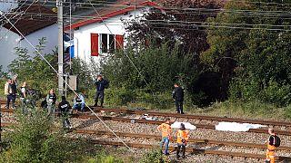 Cuerpos de los migrantes arrollados en las vías