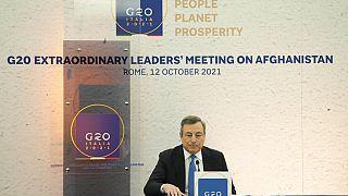 """G20 sull'Afghanistan, Draghi: """"Prima risposta multilaterale alla crisi"""""""