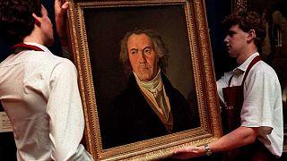 Gemälde mit dem Kopf Beethovens