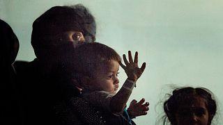 مهاجران افغان در زمان خروج از کابل