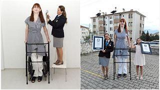 Die Türkin Rumeysa Gelgi wurde von Guinness World Records als größte Frau der Welt bestätigt