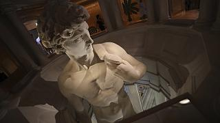 The 3D re-production of Michelangelo's David, on display at The Italy pavilion in Dubai.