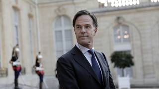 Dutch Prime Minister Mark Rutte pictured at the Elysee Palace in Paris in August.