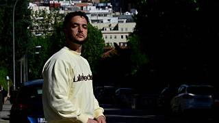 مغني الراب الإسباني أنطون ألفاريز المعروف باسم (C. Tangana)، مدريد، إسبانيا، 29 أبريل 2021