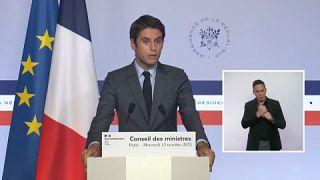 El portavoz del Gobierno francés Gabriel Attal