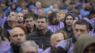 Hundreds of Bulgarian coal miners and energy workers staged a protest in Sofia.