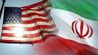 ABD-İran bayrakları