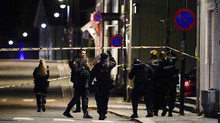 Норвежская полиция на месте инцидента в Кунгсберге