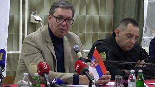 La tensión se dispara entre Serbia y Kósovo | Vucic dice a los serbios de Kósovo que se defiendan