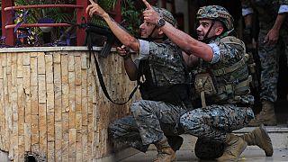 Lübnan ordusundan iki asker