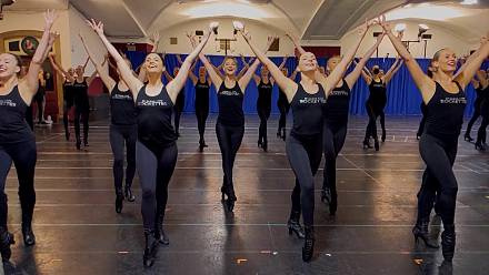 Rockettes rehearse for live Christmas show