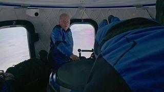 Spectators watch William Shatner launch into space