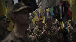 """Tag der Verteidiger der Nation"": Groß-Demonstration in Kiew"