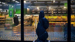 Rusya'da bir market alış verişi