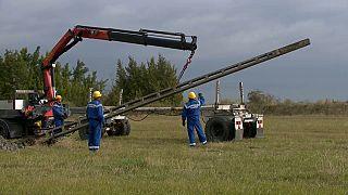 La rimozione dei pali dell'elettricità