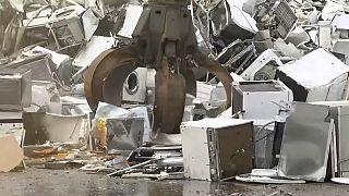 إعادة تدوير آلات غسيل في بلجيكا.