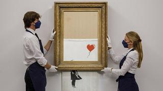 """""""Love is in the Bin"""" was offered by Sotheby's in London."""