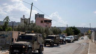 قوات إسرائيلية في قرية مردا بالضفة الغربية ، شمال سلفيت ، الأربعاء ، 13 أكتوبر ، 2021.