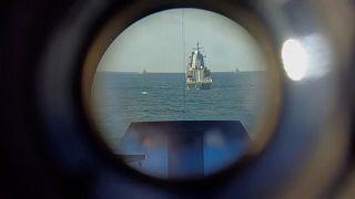 رزمایش دریایی مشترک روسیه و چین در دریای ژاپن