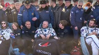 Russian actor, director arrive back on earth from ISS