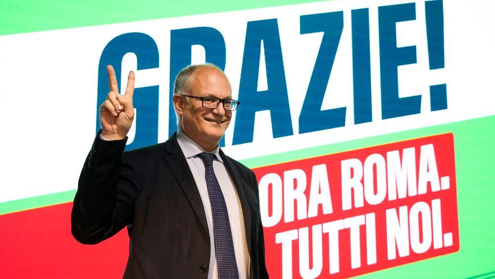 Candidato de centroizquierda reclama la victoria en las elecciones a la alcaldía de Roma