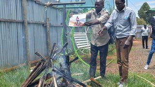 Family performs ritual cleansing at the house of slan Kenyan runner