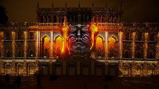 El Festival de Bakú incluyó un impresionante espectáculo de proyecciones en 3D