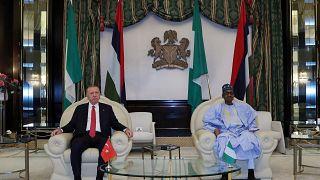 RecepTayyipErdogan en visite à Abuja