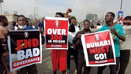 Nigerian youth protest one year after bloody crackdown