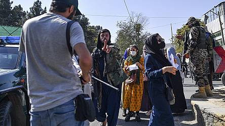 Taliban strike journalists at Kabul women's rights protest