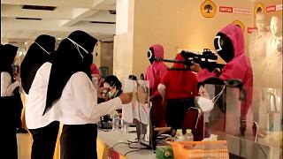 """""""Squid game"""" in a civil service competition in Indonesia."""
