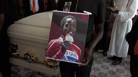 Cérémonie d'obsèques de l'athlète kenyane Agnes Tirop