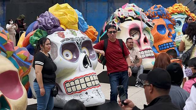 Mexico City prepares for Day of the Dead parade
