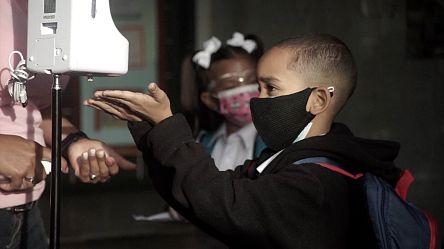 Children in Venezuela return to in-person classes