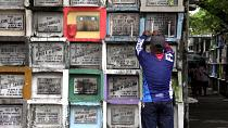 Filipinos flock to cemeteries ahead of All Saints' Day closure