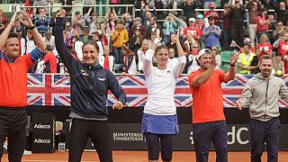 Romania beat Britain in Fed Cup as Konta and Watson lose