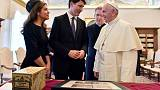 Trudeau invites pope to Canada for Church apology to indigenous peoples
