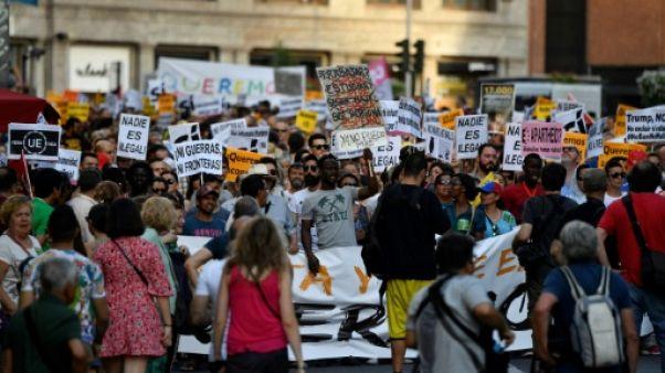 Des milliers de manifestants à Madrid pour l'accueil des réfugiés en Espagne