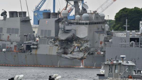 Collision au Japon: les marins américains tués identifiés