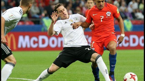 Confederations: Germania-Cile 1-1