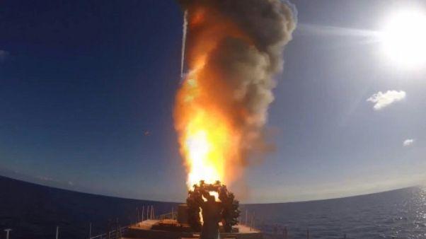 Syrie: tirs de missiles russes depuis la Méditerranée sur l'EI