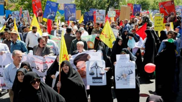 """Slogans antisaoudiens à Téhéran pour la """"Journée de Jérusalem"""""""