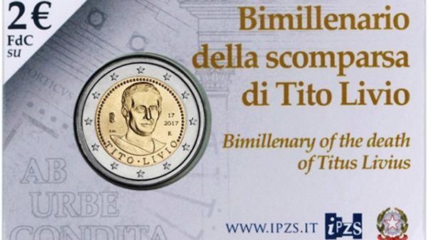 Moneta da 2 euro con il volto di Tito