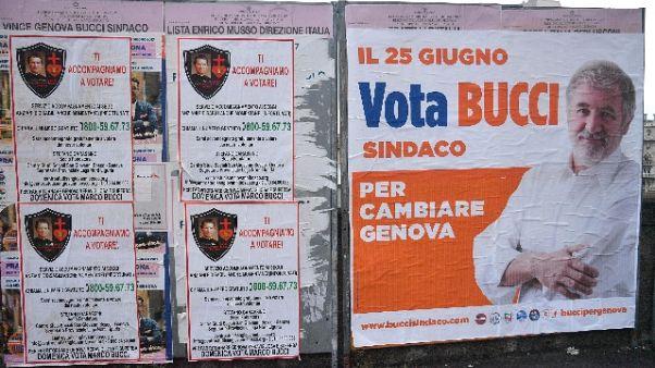 a Genova foto don Bosco per votare Bucci