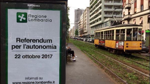 Lombardia, al via campagna per autonomia