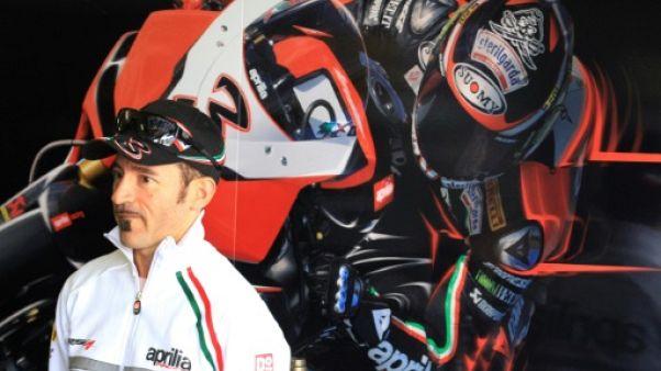 Moto: l'état de santé de Max Biaggi s'améliore