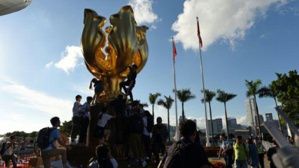 Manifestations à Hong Kong avant l'arrivée du président chinois