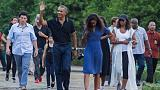 """Yes he can: """"Clever boy"""" Obama returns to Indonesia for family vacation"""